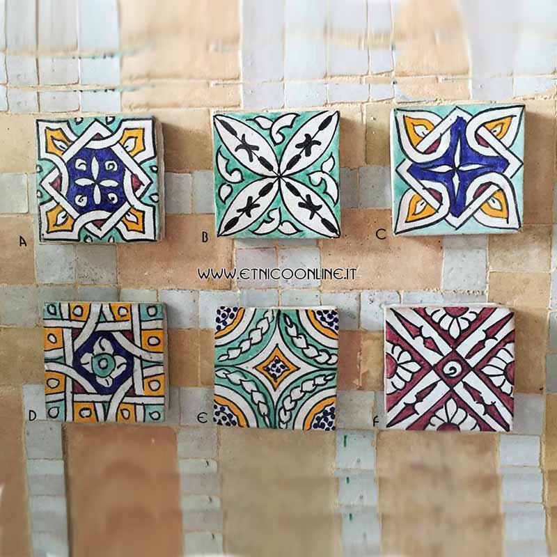 Mattonelle marocchine in ceramica fes ordina online - Piastrelle dipinte ...